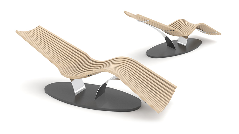 Wave Balance Steel  relaxation lounger
